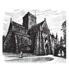 Carlisle cathedral vintage vector