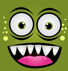 Cartoon expression monster vector