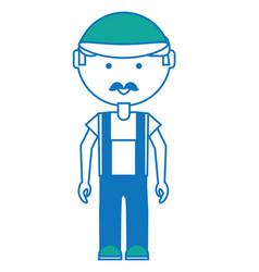 cartoon mechanic man icon vector image