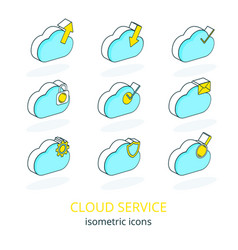 cloud service 1 vector image