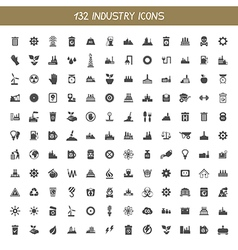 Collection industry icons vector image