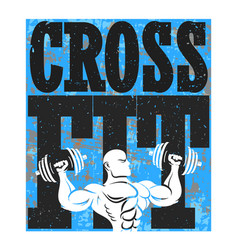 Cross fit and gym banner vector
