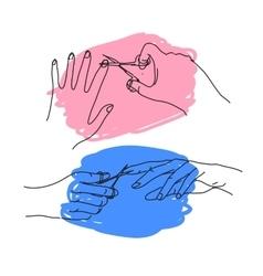 Cut nails vector