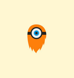 Cyclop icon flat element of vector