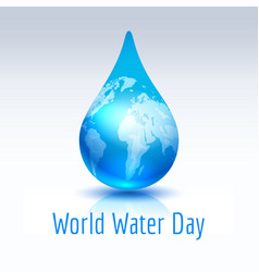 earth blue drop vector image