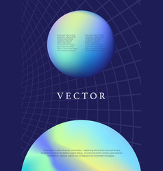 Earth planet modern futuristic abstract cover vector