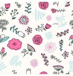 Elegance Seamless pattern with flowers vector image