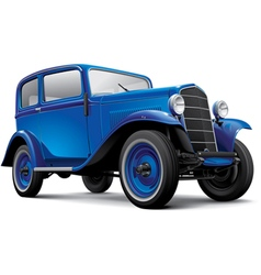 European prewar compact automobile vector