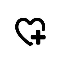 Favorites icon black on white vector