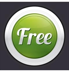 Free button green round sticker vector