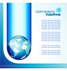 global business card vector image