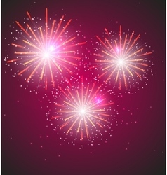 Glossy Fireworks Background vector