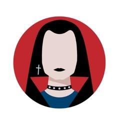 Gothic man avatar vector image