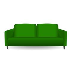 green modern sofa mockup realistic style vector image