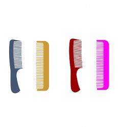 Hairbrushes vector