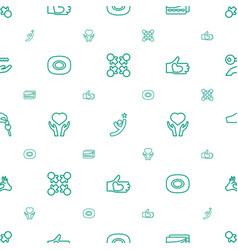 Hands icons pattern seamless white background vector