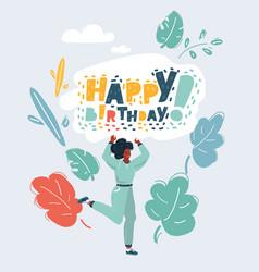 happy birthday concept on white vector image