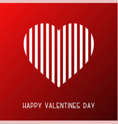 happy valentines day background card abstract vector image