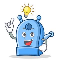 have an idea pencil sharpener character cartoon vector image