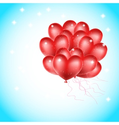 heat balloons flying vector image