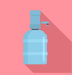 Home water dispenser icon flat style vector