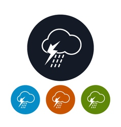 Icon cloud with thunderstorm vector