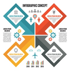 Infographic Concept - Scheme with Icons vector