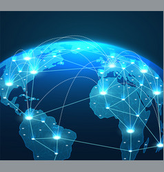 internet concept global network connections vector image