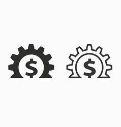 investments money icon simple pictogram vector image