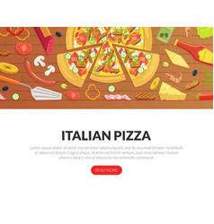 italian pizza landing page templates set fresh vector image