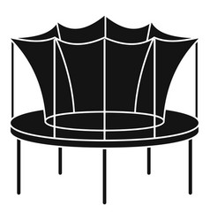 Kid trampoline icon simple style vector