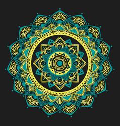 mandala indian antistress medallion abstract vector image