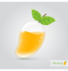mango fruit juice vector image