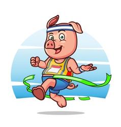 Marathon Pig vector image
