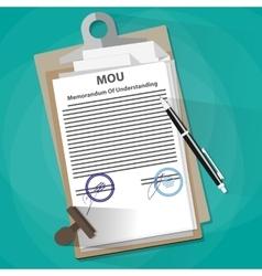 Memorandum of understanding legal document concept vector