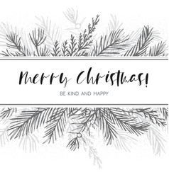 Merry christmas greeting card postcard design vector