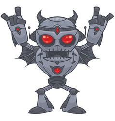 metalhead - heavy metal robot vector image