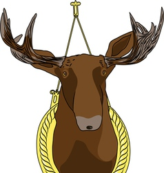Moose head vector
