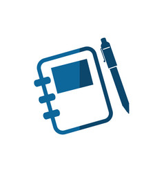 Notebook and pencil icon vector