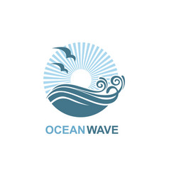 ocean icon design vector image