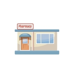 Pharmacy drugstore building icon cartoon style vector image