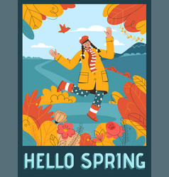 poster hello spring concept vector image
