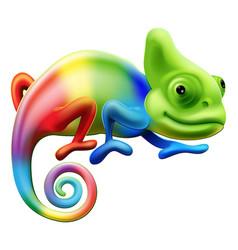 Rainbow chameleon vector