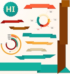Ribbons and pie style graph vector image