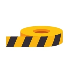 Roll of caution tape vector