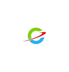 Round orbit technology logo vector