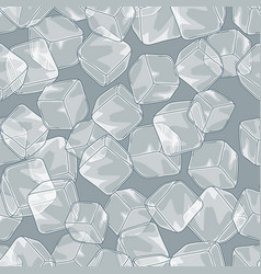 seamless pattern with ice cubes vector image