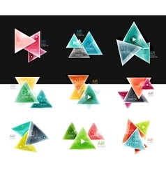 Set of abstract geometric web option box banners vector image