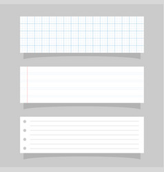Set realistic paper template vector
