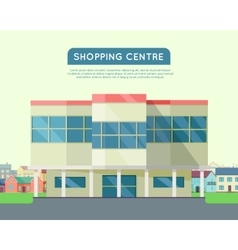 Shopping Centre Web Template in Flat Design vector